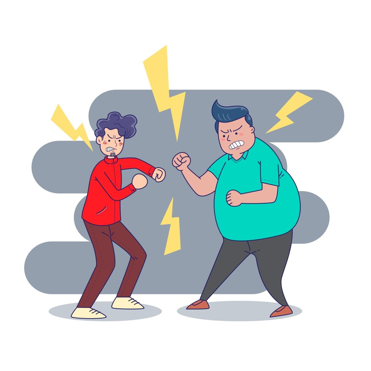 agresja między dwoma chłopakami